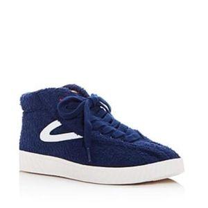 Tretorn WTNYLITEHIXAB2 Blue Terry Cloth Sneakers